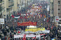 Anti-war protest in Italy.