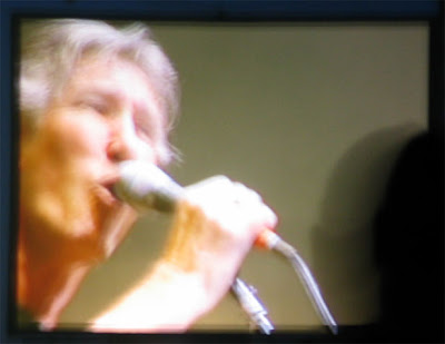 Roger Waters closeup.