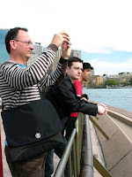 Peter, Steve and Zef - reviewing the view.