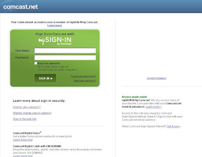 Comcast.net Signin | Comcast webmail Home page | Comcast center Login