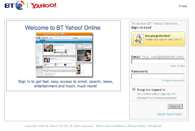 BTYahoo Mail Login - bt.yahoo.com Sign In Page