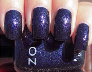 dark purple shimmer nail art