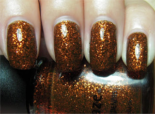 brownish green Halloween nail art