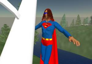 Cyberspace-3d virtual reality-Superman reporting