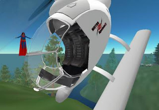 Cyberspace-3d virtual reality-helicopter cockpit