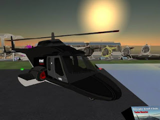 Cyberspace-3d virtual reality - Airwolf helicopter