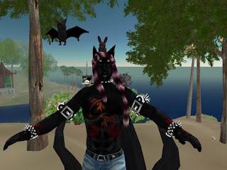 second life demon tribal warrior
