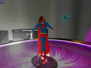 second life - superman dancing in night club