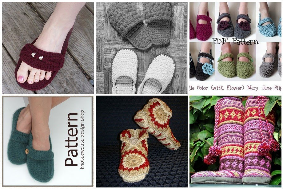 Ravelry: Hexagon Boot Slippers pattern by Priscilla Hewitt