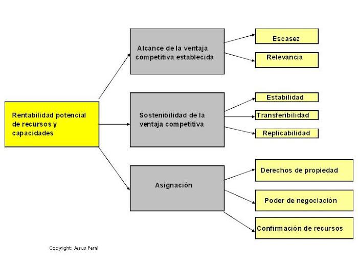 ESQUEMA 23. Rentabilidad de recursos y capacidades