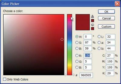Caixa de seleção de cores