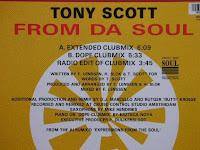 Cover Album of Tony Scott - From Da Soul (VLS) (1991)