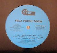 Fela Fresh Crew - All I Want (VLS) (1991)