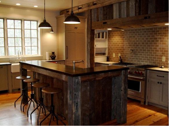 Fauna decorativa isla de cocina como mesa kitchen for Isla cocina madera