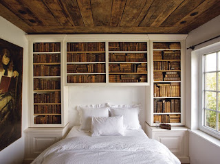 libreria pared dormitorio