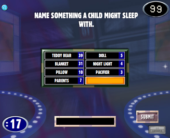 family feud answers family feud name something a child. Black Bedroom Furniture Sets. Home Design Ideas