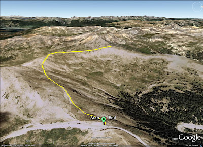 Loveland Pass Run GPS Track