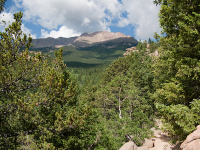 Barr Trail, First View Of Pikes Peak