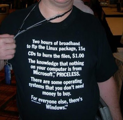 Linux mastercard spoof tee shirt