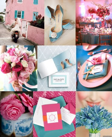 NicolaRobyn Events Wedding Colors Pink Amp Pale Blue