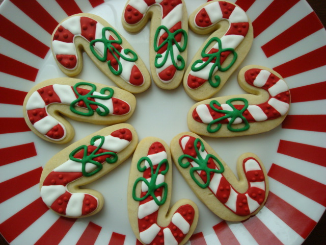 Candy Cane Sugar Cookies House Cookies