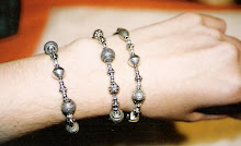 Handmade Bali silver bead combination bracelets