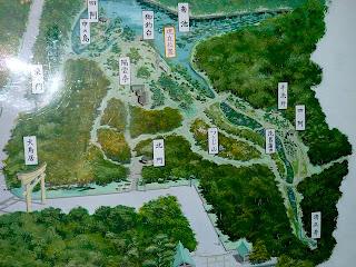 明治神宮の御苑の地図です。
