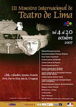 AFICHE III MUESTRA INTERNACIONAL DE TEATRO DE LIMA