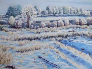 oil painting snowy lanscape Ireland