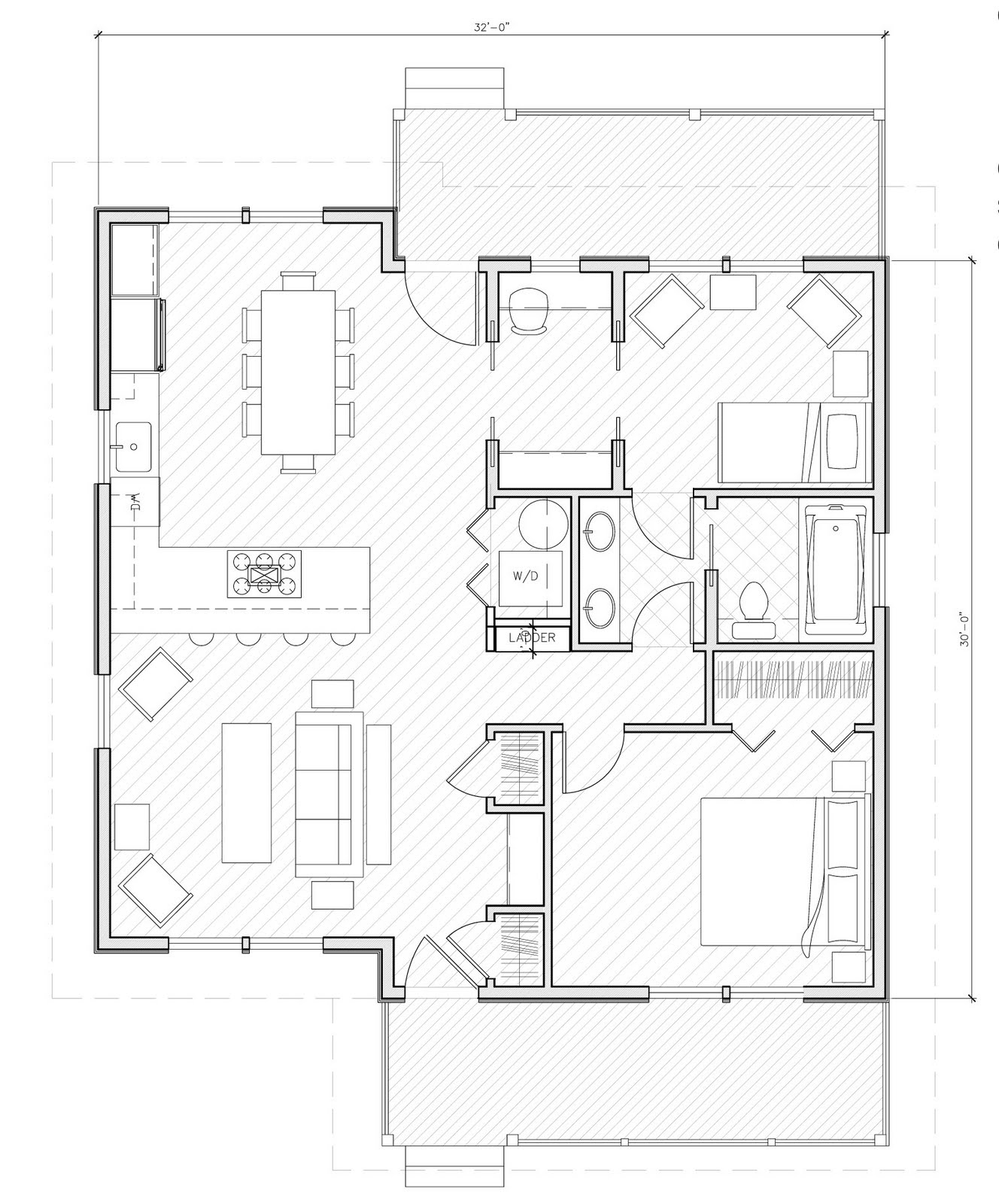 Design Banter: D+A home plans: 3 Plans Under 1,000 Square Feet