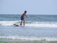 Future pro surfer!