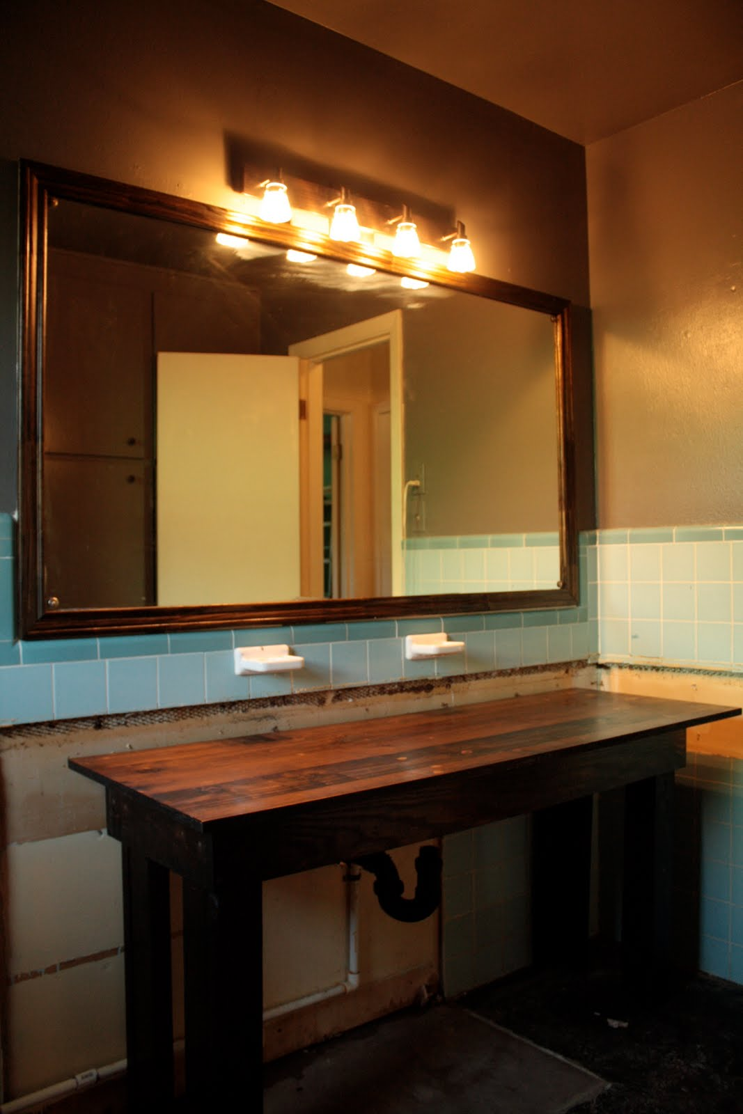 Wood Trim for Bathroom Vanity
