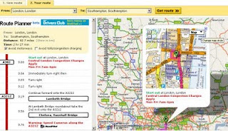 AA Route Planner VS Google Maps