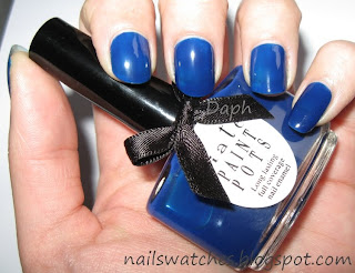 Ciaté Power Dressing blue jelly nail polish winter collection 2009/2010 nailswatches