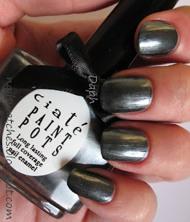 ciaté velvet tuxedo dark grey gunmetal frost nail polish nailswatches winter collection 2009/2010