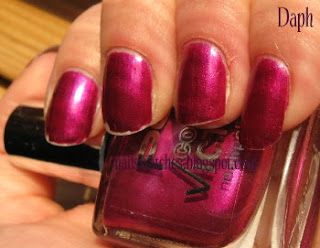 p2 stylish frost magenta shimmer nail polish nailswatches
