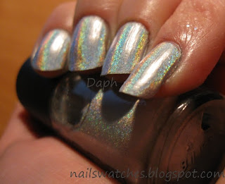 gosh holographic holo nail polish silver nailswatches