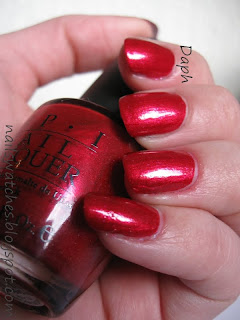 OPI Thanks So Muchness alice in wonderland limited edition polish discontinued red shimmer vampy sophisticated nails nail polish nailswatches