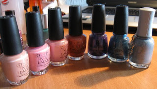 Haul Orly China Glaze OPI Blue Pink Purple Shimmer Creme Peach