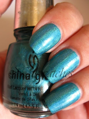 china glaze dv8 omg collection holographic teal