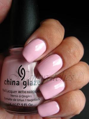 china glaze something sweet up and away pink creme nailpolish nailswatches
