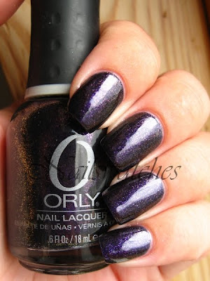 orly cosmic FX cosmix collection for fall winter 2010 glass flecked foil like nailswatches out of this world zoya mimi dupe purple glass flecks nails