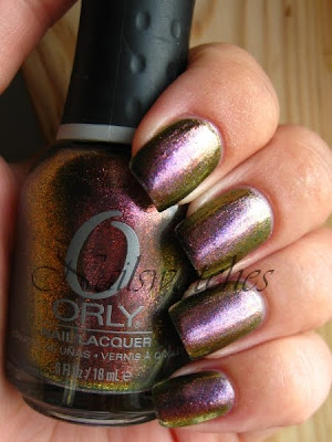 orly cosmic cosmix fx nailpolish collection for fall winter 2010 glass flecked duochrome space cadet brown copper green mauve purple pink flash nailswatches nails review