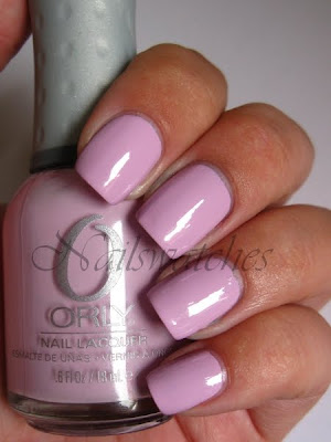 orly sweet pastel spring collection 2010 lavender pink creme swatch nails polish nailswatches