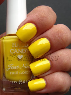 hard candy yellow creme splendid swatch nailswatches nail polish
