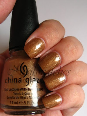 china glaze golden spurs brown gold shimmer fall rodeo diva collection 2009 nail polish nailswatches