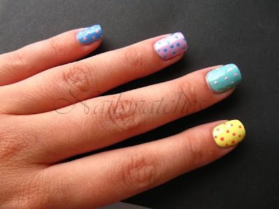orly sweet collection spring 2010 creme nail polish pixy stix lemonade gum drop gumdrop lollipop snowcone nailswatches dots dottingtool skittle mani