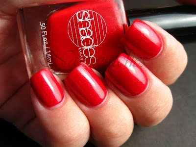 barielle pin up all lacquered up collection 2009 fall red shimmer nail polish nailswatches