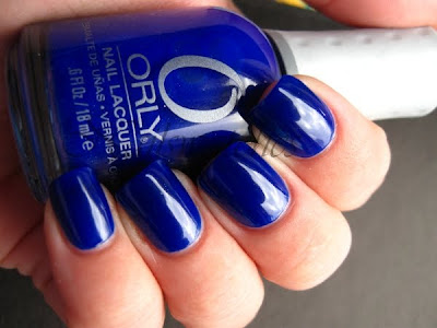 orly in the navy collection 2010 royal navy blue jelly with glass flecks scattered nail polish nailswatches