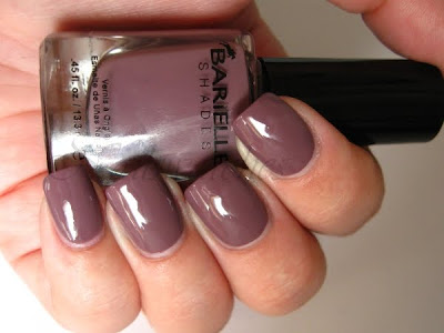 barielle get mauve-ing mauve taupe creme nail polish nailswatches